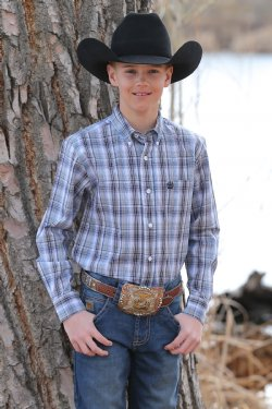 Cinch Boy's Long Sleeve Shirt - Multicolor