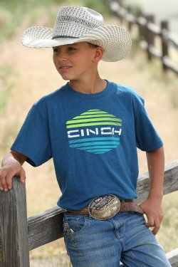 Cinch Boy's Short Sleeve T-Shirt - Blue