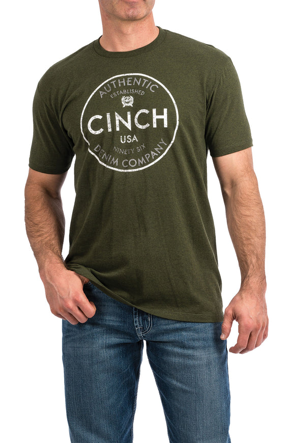 Cinch Men's Short Sleeve T-Shirt - Olive Green