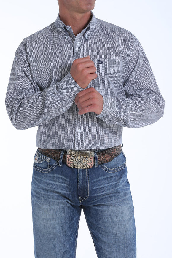 Cinch Men's Long Sleeve Shirt - Navy