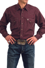Cinch Men's Long Sleeve Western Shirt - Purple