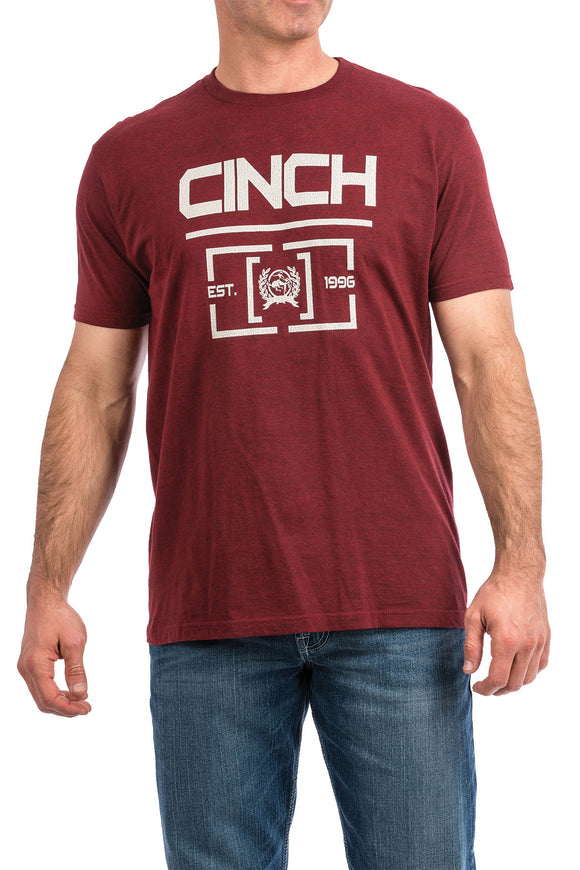 Cinch Men's Short Sleeve T-Shirt - Red