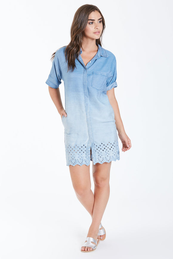 Dear John Helen Short Sleeve Shirt Dress - Kairos