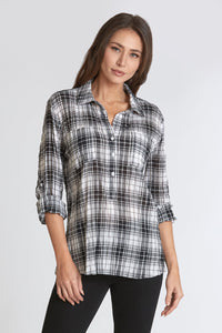 Dear John Emily 3/4 Sleeve Shirt - Black