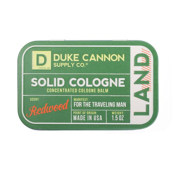 Duke Cannon Solid Cologne - Land Redwood