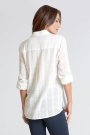 Dear John Emily 3/4 Sleeve Shirt - White