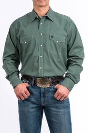 Cinch Men's Long Sleeve Western Shirt - Green