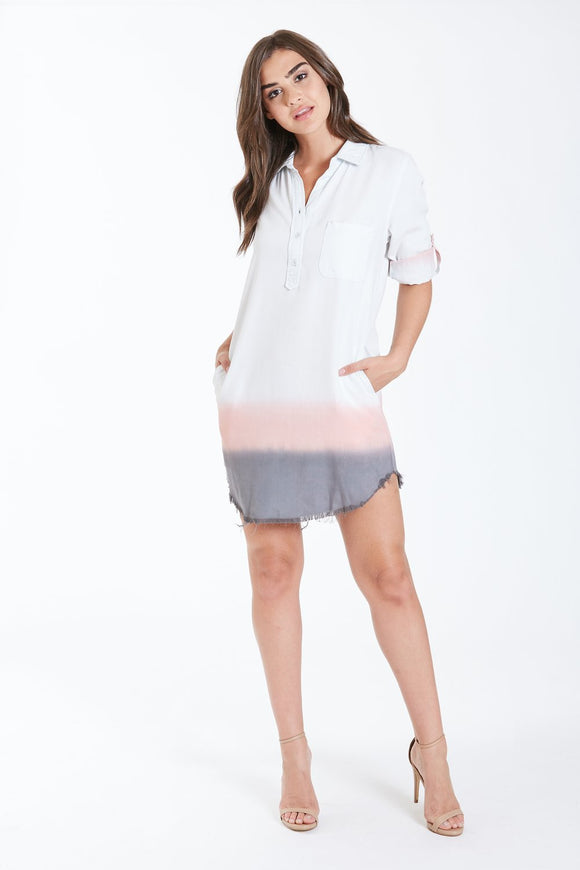 Dear John Harper 3/4 Placket Dress - Sunset