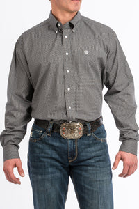 Cinch - Men's Long Sleeve Shirt - Stone and Black