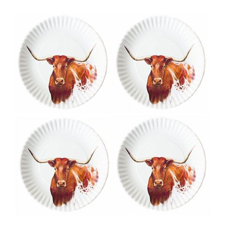One Hundred 80 Degrees - Melamine Plates - Longhorn