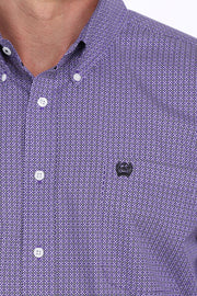 Cinch Men's Long Sleeve Shirt - Purple