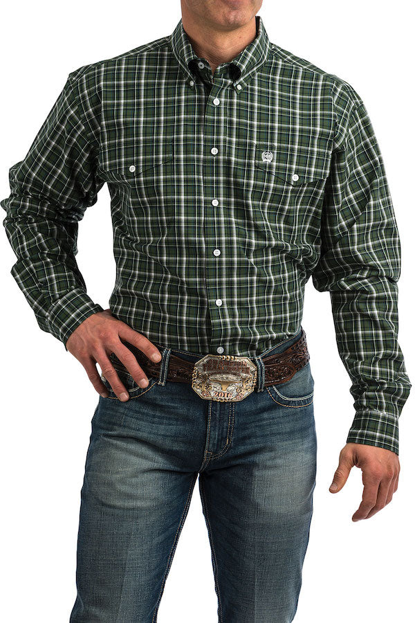 Cinch - Men's Long Sleeve Shirt - Green