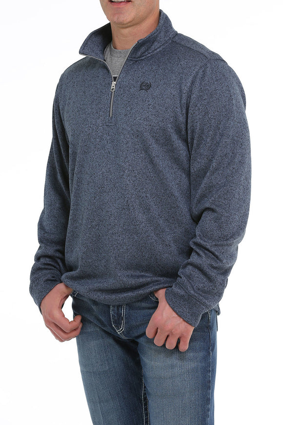 Cinch Men's 1/4 Zip Pullover - Blue