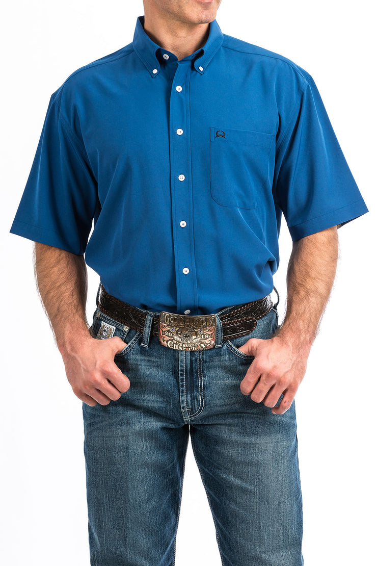 Cinch Men's Short Sleeve ArenaFlex Shirt - Dark Blue