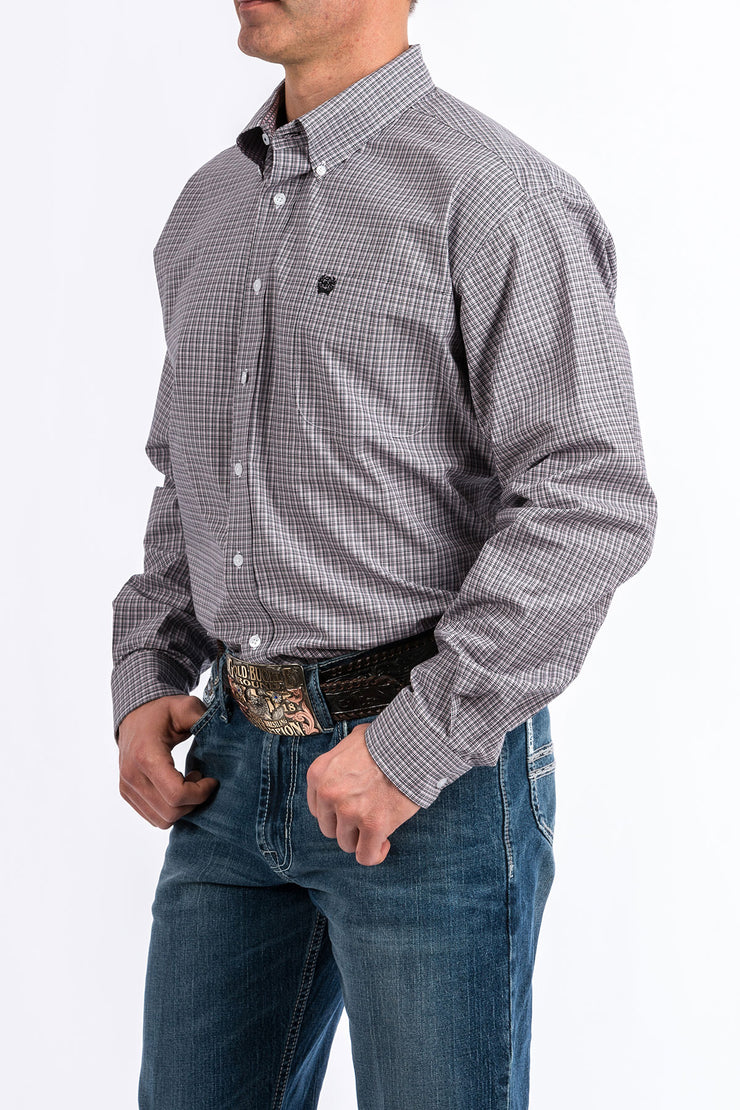 Cinch - Men's Long Sleeve Shirt - Lavender and Black
