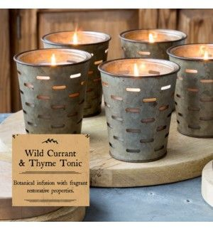 Park Hill Wild Currant & Thyme Olive Bucket Candle