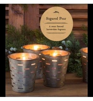 Park Hill Sugared Pear Olive Bucket Candle