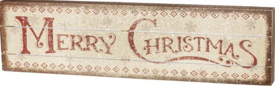 Slat Box Sign - Merry Christmas