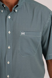 Cinch Men's Short Sleeve ArenaFlex Shirt - Pale Green
