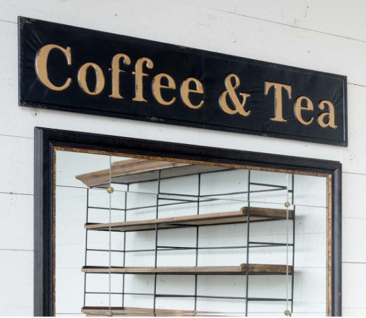 Embossed Coffee and Tea Sign