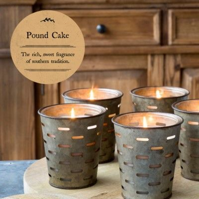 Park Hill Pound Cake Olive Bucket Candle