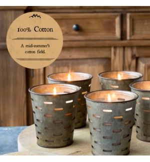 Park Hill 100% Cotton Olive Bucket Candle