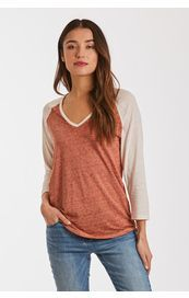 Another Love Shirt - Daniela 3/4 Sleeve - Spice / Cream