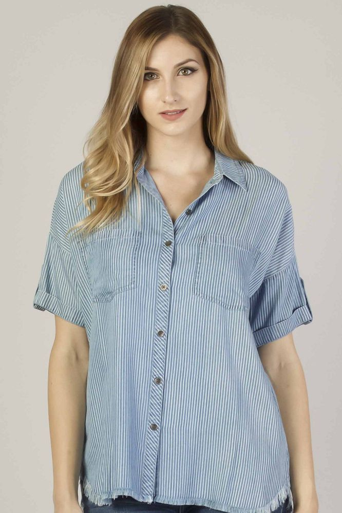 Dear John Kyleigh Short Sleeve Shirt - Blue