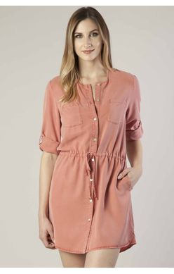 Dear John Dress - Luka 3/4 Sleeve - Peach