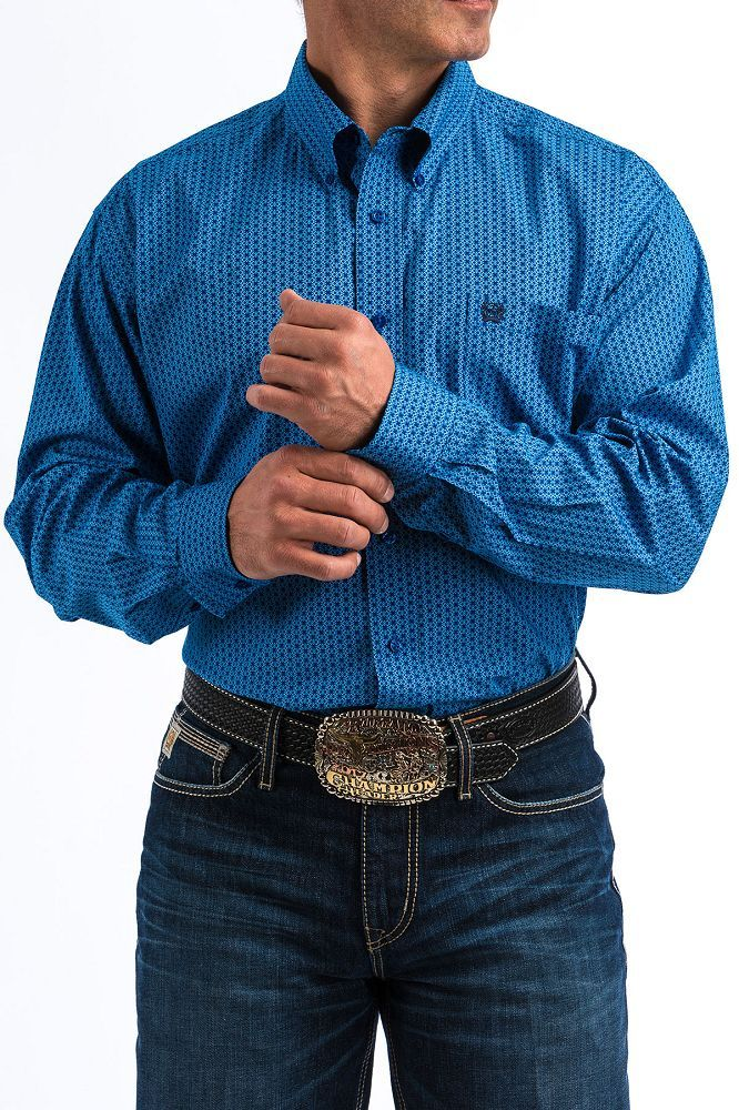 Cinch - Men's Long Sleeve Shirt - Blue