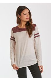 Another Love Shirt - Kasen Long Sleeve - Cream/Bourdeaux