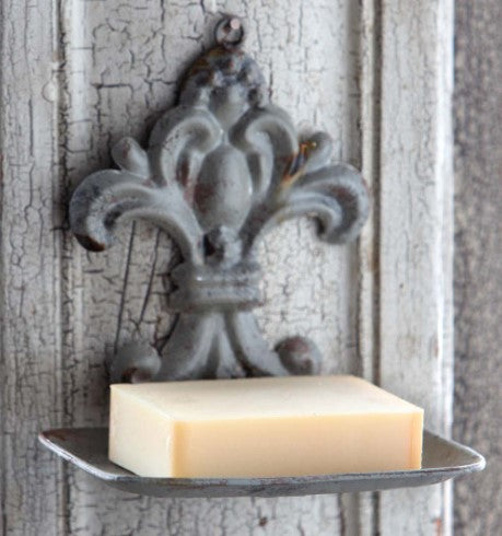French Style Tin Soap Holder