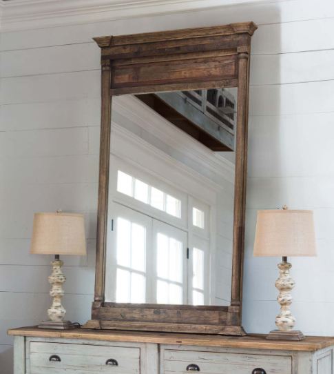 Old Elm Wood Mirror