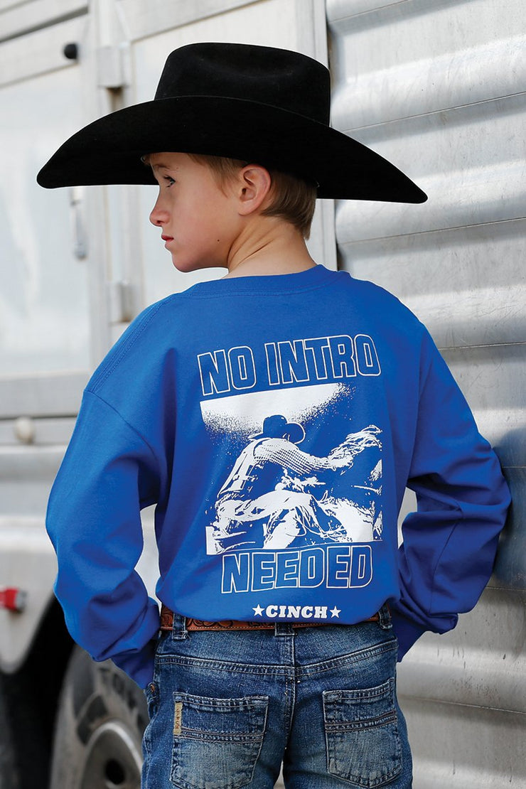 Cinch Boy's Long Sleeve T-Shirt - Royal Blue