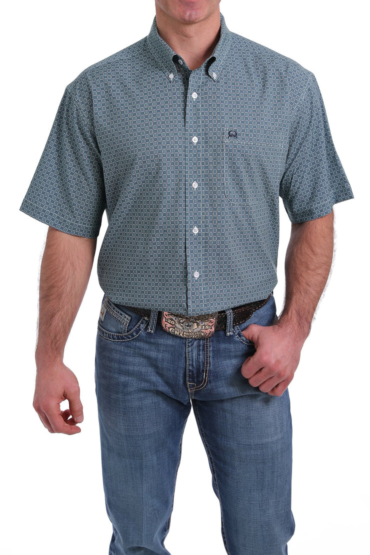 Cinch Men's Short Sleeve Shirt - Light Blue