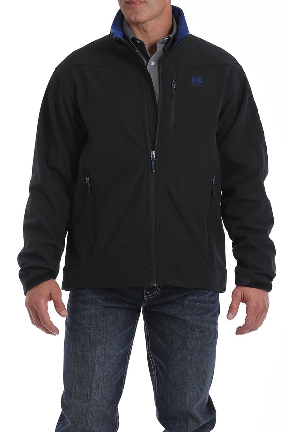 Cinch Men's Solid Bonded Jacket - Black/Blue