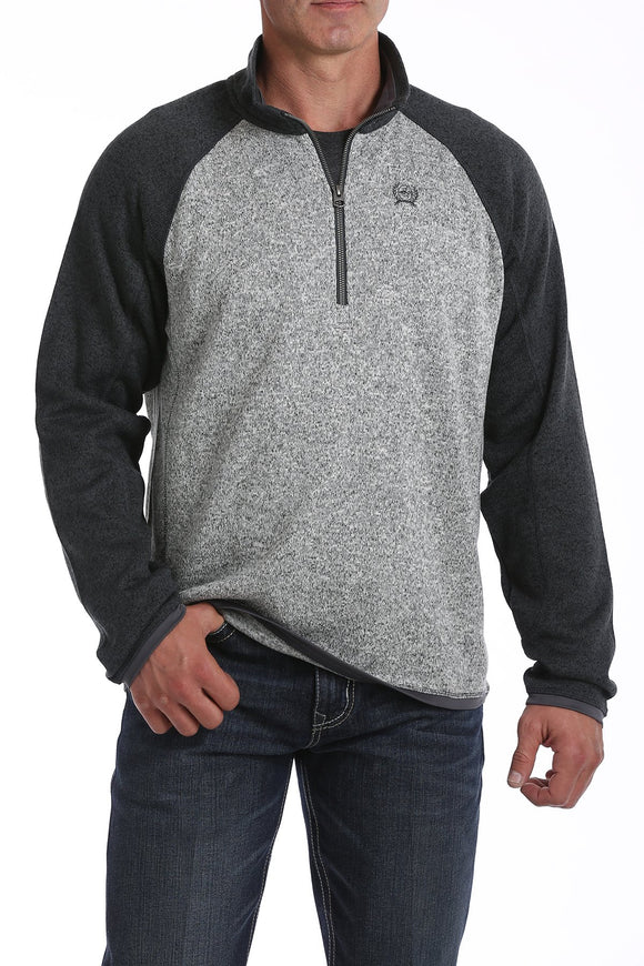 Cinch Men's 1/4 Zip Pullover - Gray