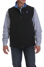 Cinch Men's Concealed Carry Solid Bonded Pocket Vest - Black