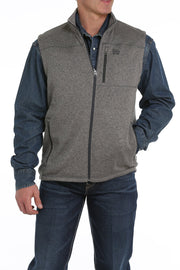 Cinch Men's Sweater Vest - Heather Gray
