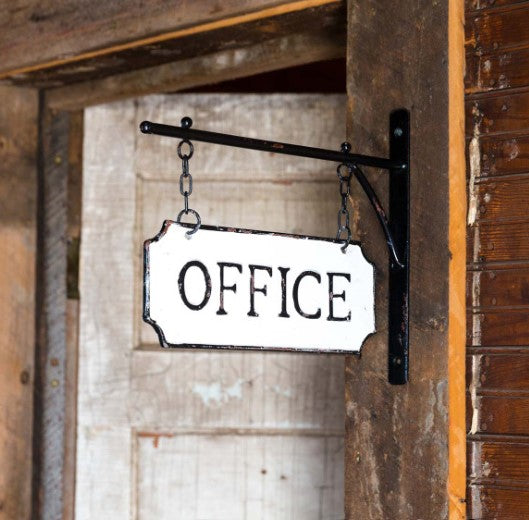 Metal Office Sign with Display Bar