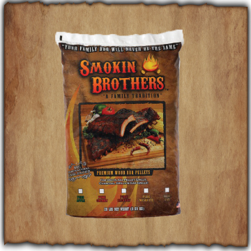 Smokin Brothers - Pure Wood Pellets - Apple Hickory