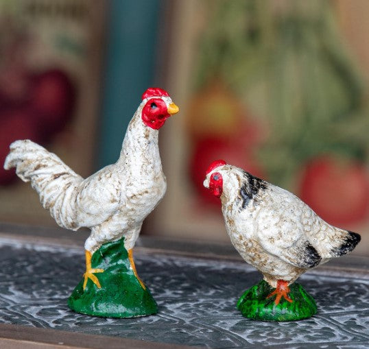 Cast Iron- Rooster and Hen