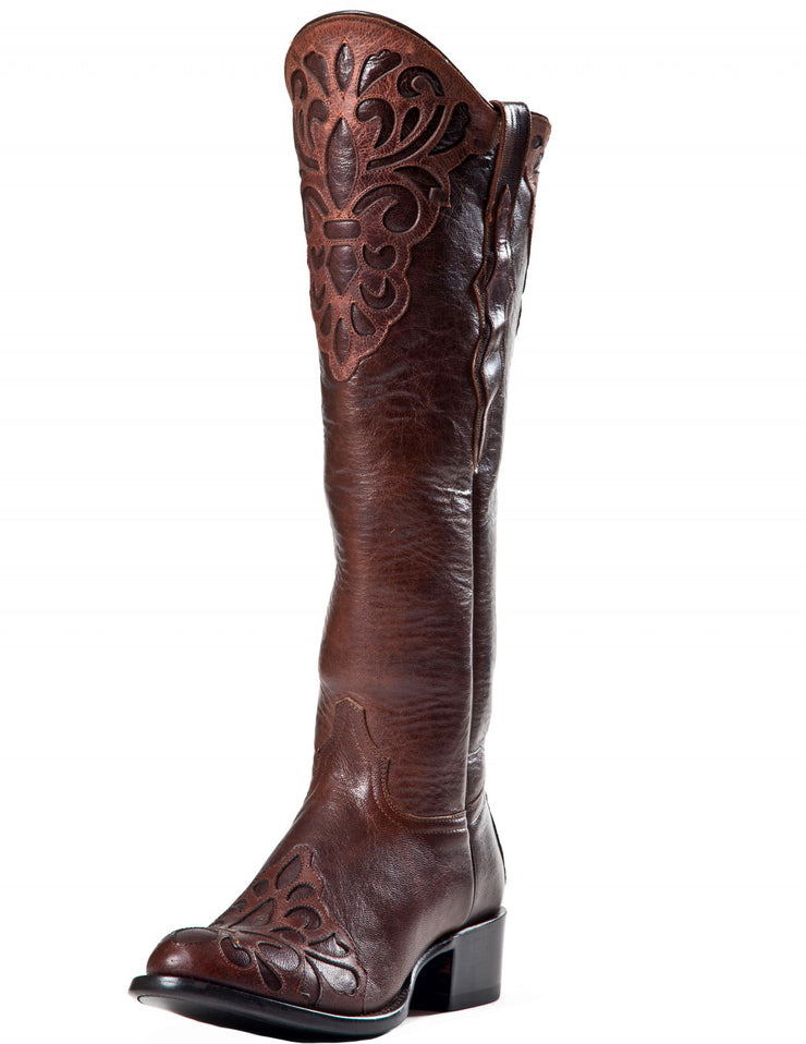Johnny Ringo Volcano Cobre Boot with Fleur De Lis Inlay