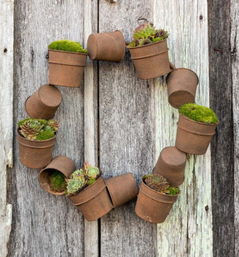 Rusty Bucket Wreath