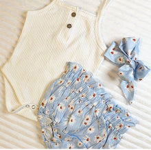 Load image into Gallery viewer, Daisy Romper + Bummie Set