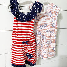 Load image into Gallery viewer, Stars + Stripes Peplum Top