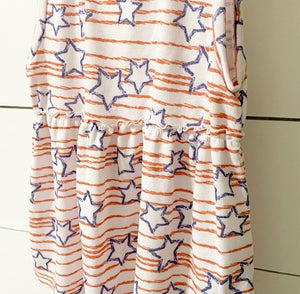 Stars + Stripes Peplum Top