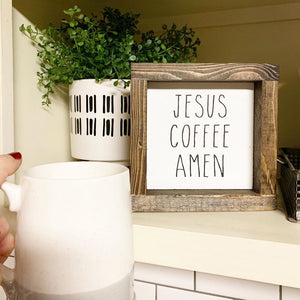 Jesus. Coffee. Amen.