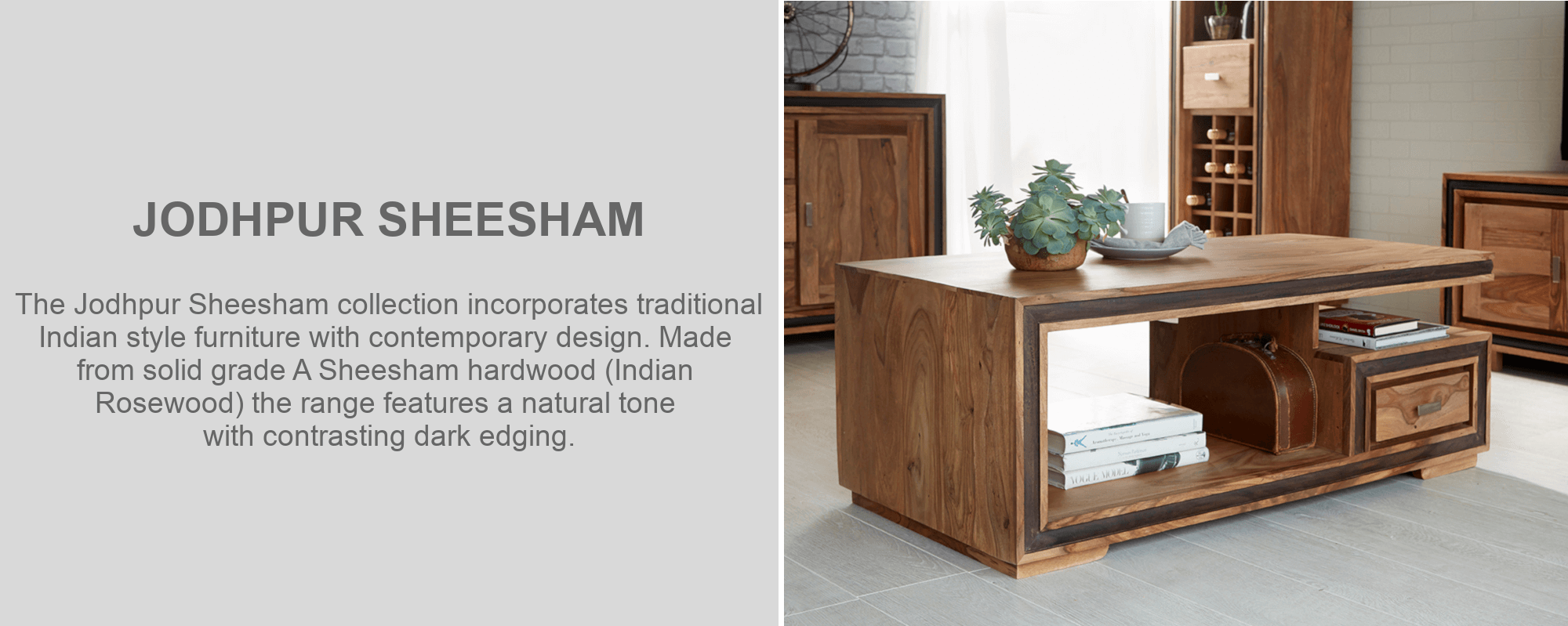 Jodhpur sheesham coffee table furniture