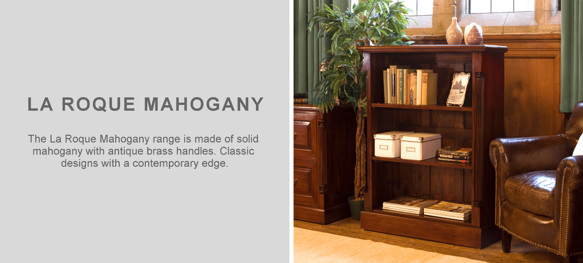 La roque mahogany bookcase furniture in living room